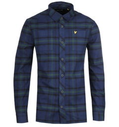 Lyle & Scott Navy Tartan Overshirt