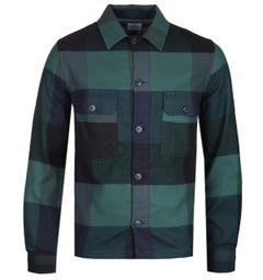 PS Paul Smith Buffalo Check Green & Navy Overshirt