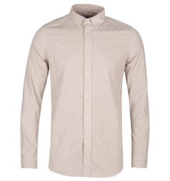 PS Paul Smith Tailored Fit Beige Apparel Cord Shirt