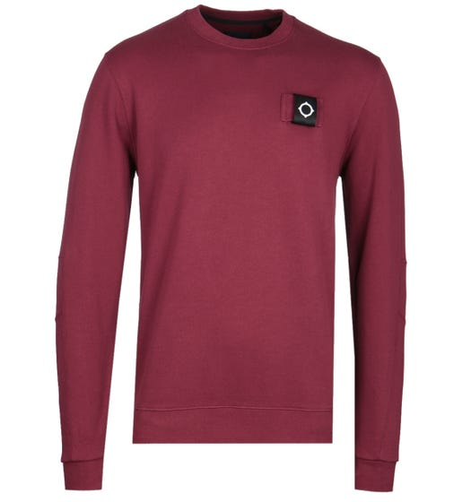 MA.Strum Training Burgundy Crew Neck Sweatshirt