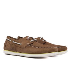 Barbour Capstan Tan Leather Boat Shoes