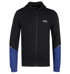 Barbour International Hurricane Black & Blue Hoodie
