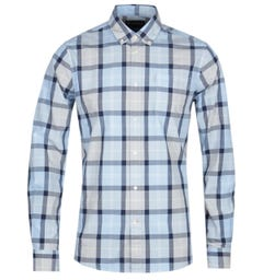 Barbour Burnside Tailored Fit Long Sleeve Ocean Blue Shirt