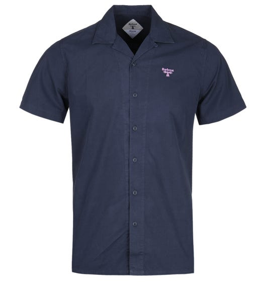 Barbour Beacon Acton Navy Short Sleeve Shirt