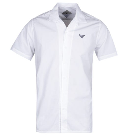 Barbour Beacon Acton White Short Sleeve Shirt