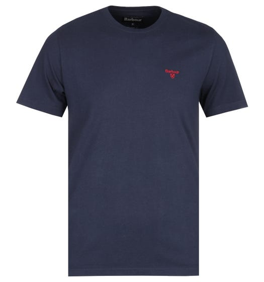 Barbour Sports Navy Crew Neck T-Shirt