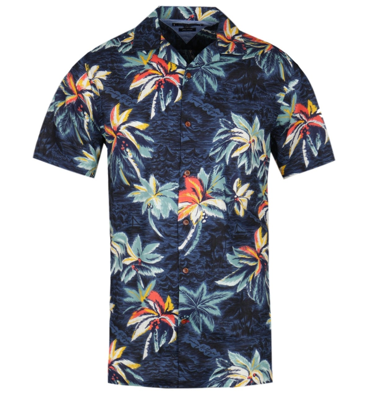 Dålig tro Behandling Oxid  Tommy Hilfiger Short Sleeve Hawaiian Print Shirt