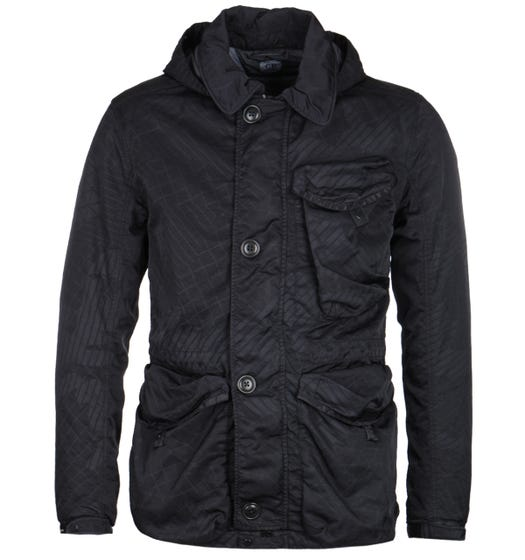 CP Company M-Bossed Millie Navy Hooded Goggle Jacket