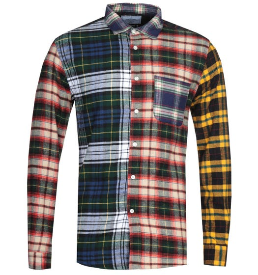 Portuguese Flannel Mixed Patched Shirt