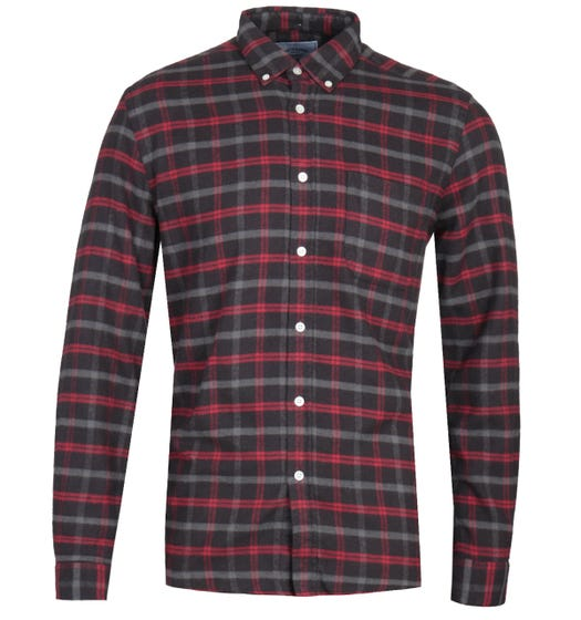 Portuguese Flannel Evening Charcoal Shirt