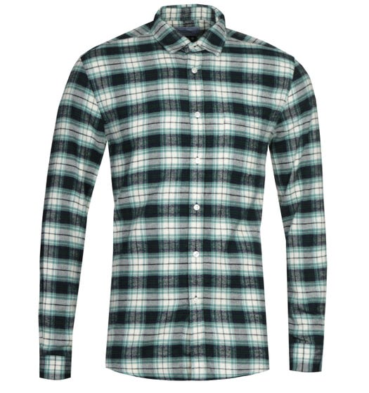 Portuguese Flannel Osmose Navy & Green Shirt