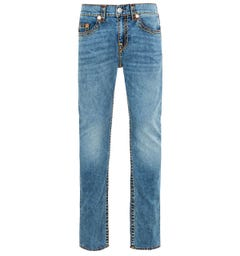 True Religion Rocco No Flap Super T Relaxed Skinny Chopper Blue Jeans