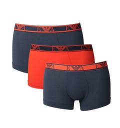 Emporio Armani Red/Navy 3 Pack Boxer Shorts