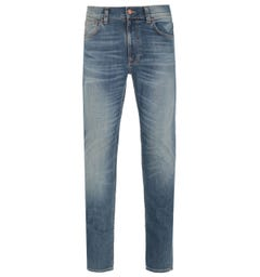 Nudie Jeans Co Lean Dean Broken City Light Washed Blue Denim Jeans