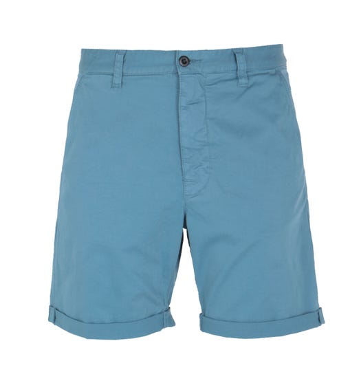 Nudie Jeans Co Luke Smooth Comfort Petrol Blue Shorts