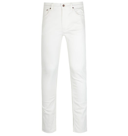 Nudie Jeans Co Lean Dean Off White Jeans