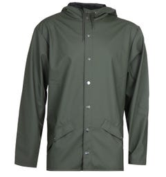 Rains Fishtail Waterproof Green Jacket