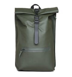 Rains Rolltop Forest Green Rucksack