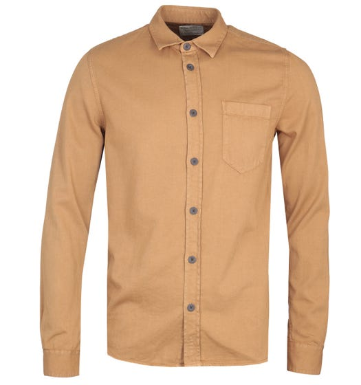 Nudie Jeans Co Henry Pigment Dyed Camel Shirt