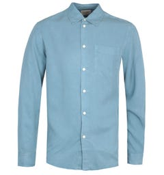 Nudie Jeans Co Chuck Smooth Twill Blue Shirt