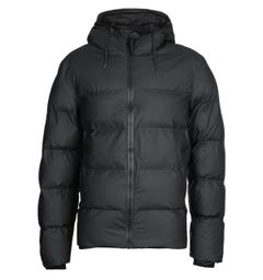 Rains Black Puffer Jacket