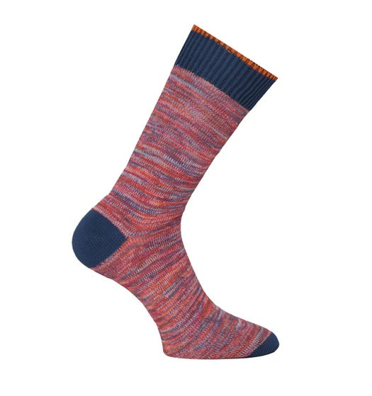 Nudie Jeans Co Rasmusson Multi Yarn Red Socks