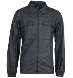 Rains Ultralight Black Zip-Through Shirt