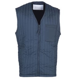 Rains Blue Jacket Liner Vest