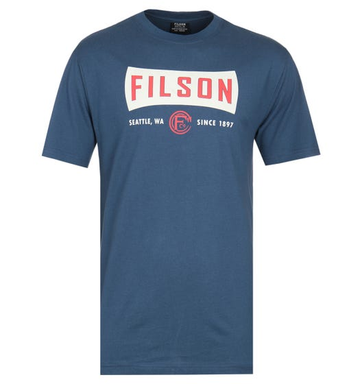 Filson Lightweight Graphic Outfitter Teal Blue T-Shirt