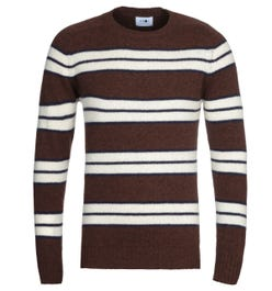 NN07 Nathan 6212 Brown Stripe Wool Sweater