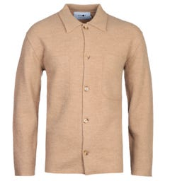 NN07 6398 Jonas Brown Wool Overshirt