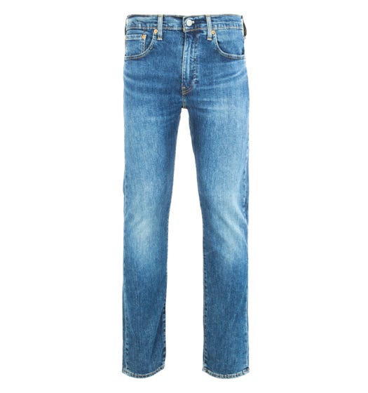 Levi's Premium 502 Regular Tapered Dark Blue Denim Jeans