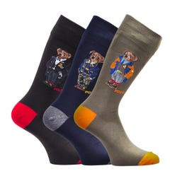 Polo Ralph Lauren 3 Pack Gift Set Bear Socks