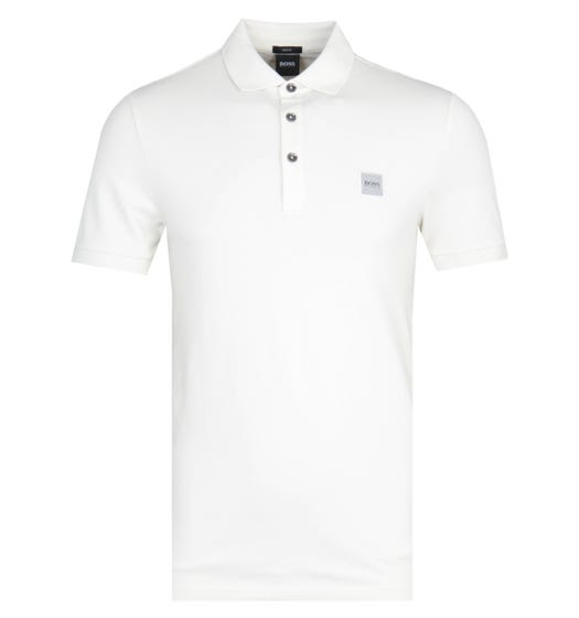 BOSS Passenger Slim Fit Light Beige Pique Polo Shirt