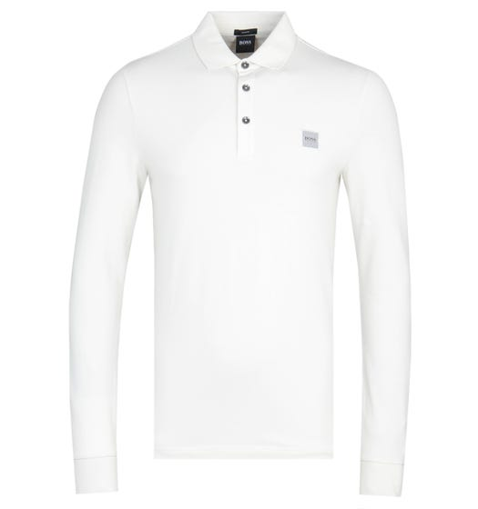 BOSS Passerby Slim Fit Beige Polo Shirt
