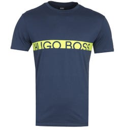 BOSS RN Slim Fit Sustainable Cotton Navy T-Shirt