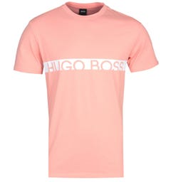 BOSS Bodywear RN Slim Fit Sustainable Cotton Pastel Salmon Pink T-Shirt