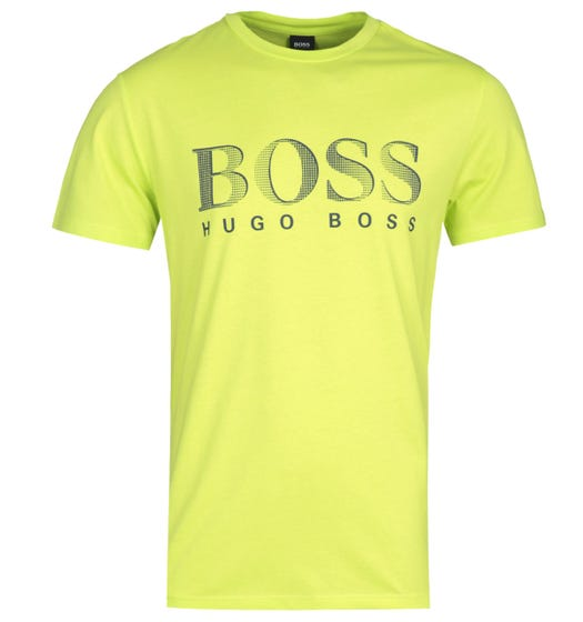 BOSS Bodywear RN UV-Protection Bright Lime Green T-Shirt