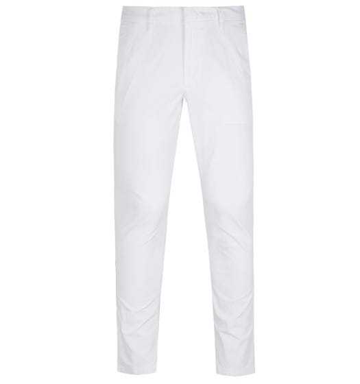 BOSS Kaito Tapered Fit White Chino Trousers