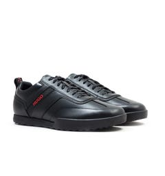 HUGO Matrix Lowp Black Leather Trainers