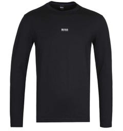 BOSS Tchark Long Sleeve Centre Logo Black T-Shirt