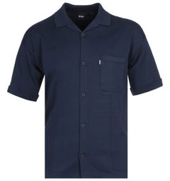 BOSS Avino Knitted Navy Shirt
