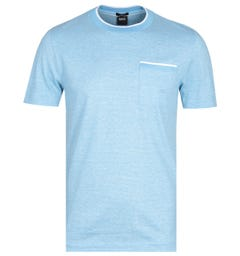 BOSS Tessler Tipped Trim Sky Blue T-Shirt