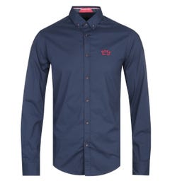 BOSS Biado Long Sleeve Navy Shirt