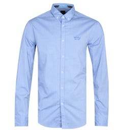 BOSS Biado Long Sleeve Blue Shirt