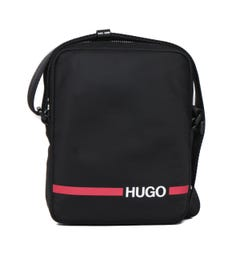HUGO Record Crossbody Black Logo Bag