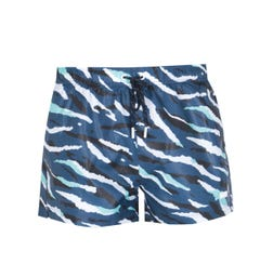 BOSS Bodywear Tigershark Camo Print Navy Shorts