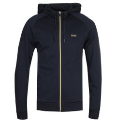 BOSS Saggy 1 Zip Through Dark Blue Hooded Sweatshirt