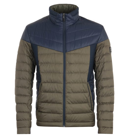 BOSS Water Repellent Sustainable Green Quilted Jacket