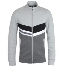 BOSS Skaz 2 Grey & Black Zip Sweatshirt